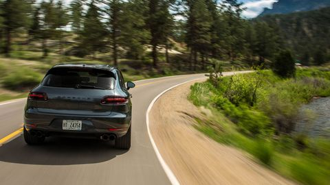 The 2018 Porsche Macan GTS comes with a twin-turbocharged 3.0-liter V6 making 360 hp.