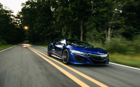 The 2017 Acura NSX on the move in Michigan