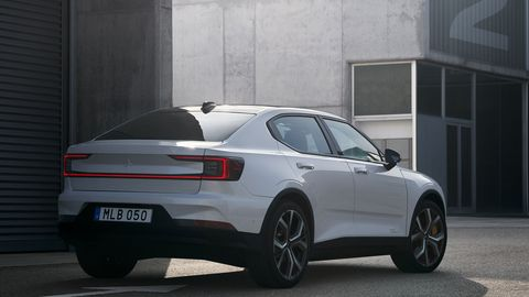 The Polestar 2 EV powertrain is good for 408 hp and 487 lb-ft of torque.