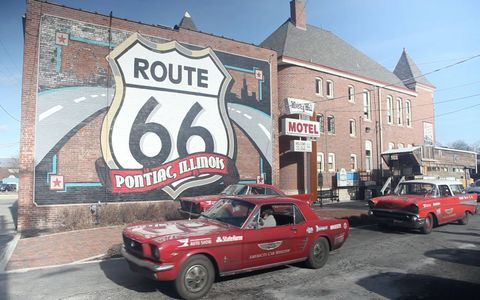 Meeting up with the Mother Road in Pontiac, Illinois.