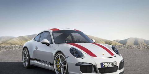 Porsche's latest 911 R debuts at the Geneva International Motor Show.