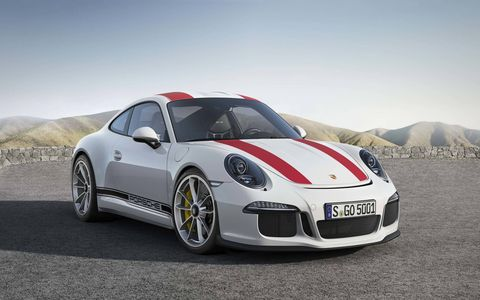 Porsche's latest 911 R debuts at the Geneva International Motor Show.