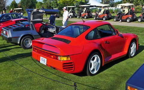 A 1986 Porsche 959.
