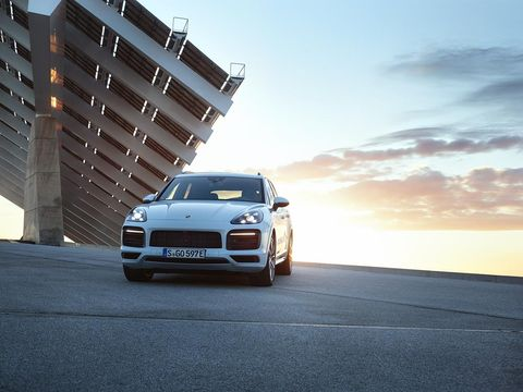 The 2019 Porsche Cayenne E-Hybrid uses a 3-liter turbo V6 and electric motor to generate a system total of 455 hp and 516 lb-ft of torque.