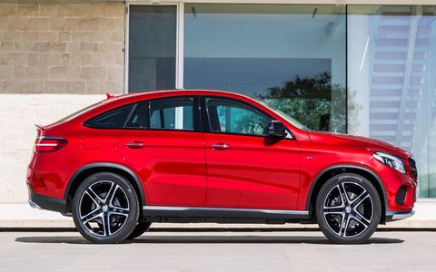 Beginning late summer 2015, the 2016 Mercedes-Benz GLE 450 AMG Sport coupe will square off against the mighty BMW X6.
