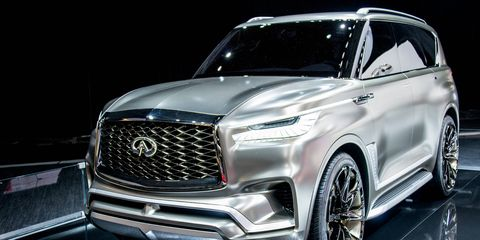 The imposing Infiniti QX80 Monograph made its debut at the New York auto show.