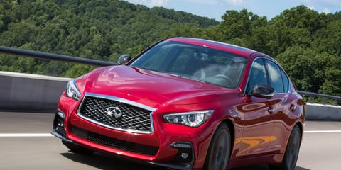 The mid-cycle redesign of the 2018 Infiniti Q50 Red Sport 400 retains the same great engine and controversial steering.