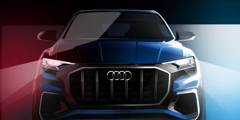 Audi's Q line is about to receive a new member in the form of a concept Q8.