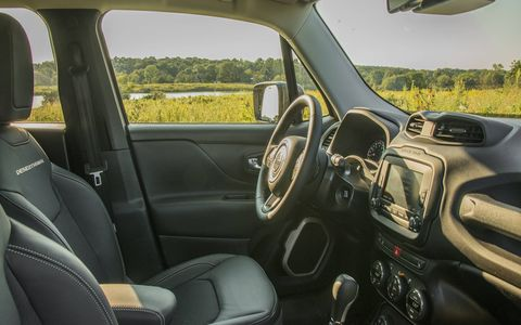 The Renegade offers a rugged interior and plenty of headroom, due to its cube-like shape.