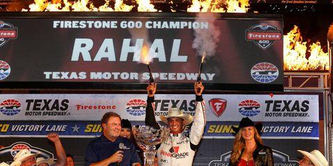 Graham Rahal won Saturday night's IndyCar race at Texas Motor Speedway.
