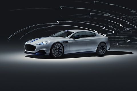 The Aston Martin Rapide E displayed at the Shanghai Motor Show. 800 volts, more than 600 horsepower and 700 pound-feet of torque.