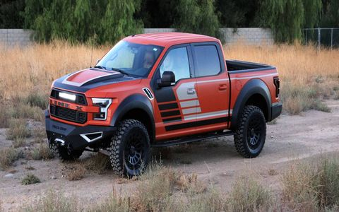 LINE-X teamed up with builder Kenny Pfitzer to build this Raptor show truck for SEMA.