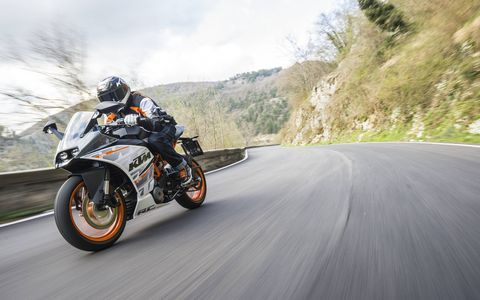 KTM says its new RC 390 has the best power-to-weight ratio in its class...