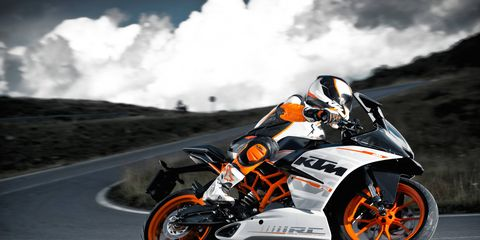 The new KTM RC 390 has fully electronic ignition.