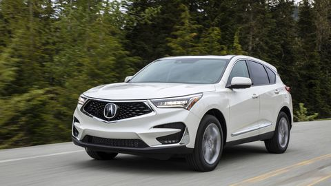 ACURA RDX -- The Acura RDX has always been a safe bet in compact entry-luxury crossovers, but Acura doesn't like being just a safe bet. For 2019, Acura dropped the 3.5-liter V6 engine and swapped in a turbo four. It's a good turbo four, with just seven fewer horses and more torque, also used, in other tunes, in the Civic Type R and the Accord. The new RDX is also just over an inch longer overall but more than two and a half inches longer in wheelbase, with new styling to boot.