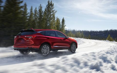The global debut of the 2019 RDX Prototype at the North America International Auto Show.