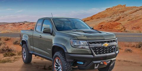 The Chevrolet Colorado ZR2 concept aims to push off-roadability further than the Z71 package.