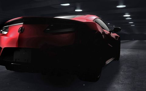 Teaser photos of the production version of the Acura NSX appear to show a car that is very similar to the concept.