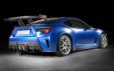 Subaru unveils STI Performance Concept at New York auto show.