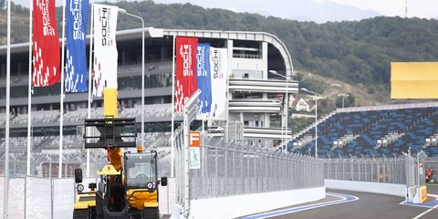 Formula One recovery vehicle at the Sochi Autodrom.