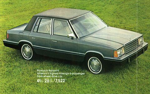 Land vehicle, Vehicle, Car, Coupé, Sedan, Full-size car, Classic car, Automotive design, Family car, Plymouth reliant,