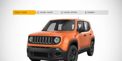 The Renegade will be available in four trim levels, including the trail-rated Trailhawk.