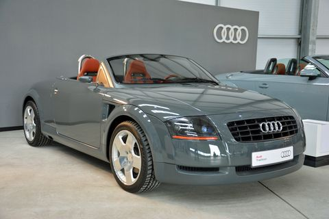 The 1995 Audi TT Concept on display