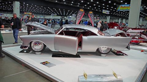 The 2018 Don Ridler Memorial award went to this 1957 Chevrolet built by Johnny's Auto Trim and Rod Shop.