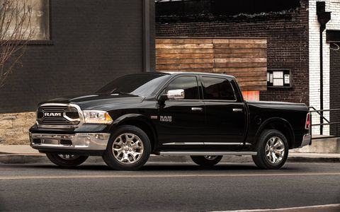 "The Laramie Limited's all-new grille is the most prominent change of the exterior. As the leading point of the new Limited, its new billet port grille breaks from the long tradition of a crosshair styling with bold ""RAM"" lettering."
