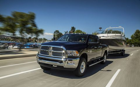 The Ram 2500 offers two segment-exclusive rear suspensions: a five-link coil system or air suspension system.
