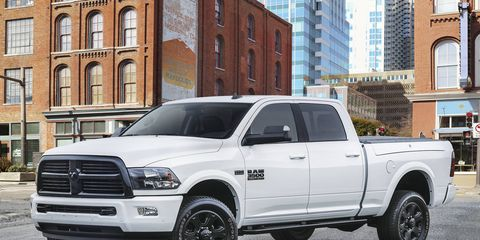 The Night edition is offered on 2500 and 3500 HD, single-rear-wheel pickups.