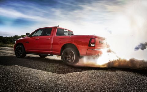 The 2017 Ram Night package is available on Regular Cab, Quad Cab and Crew Cab 1500 Sport models, in both two- and four-wheel drive, long and short bed lengths and with a choice of 3.6-liter Pentastar V6 or 5.7-liter HEMI V8 engines.