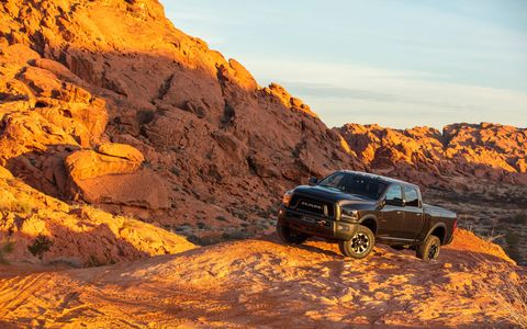 The Power Wagon comes standard with a 410-hp, 6.4-liter Hemi V8, front and rear lockers and a disconnecting sway bar.