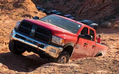 The 2017 Power Wagon weighs in at about 7,000 pounds, can tow 10,030 pounds.