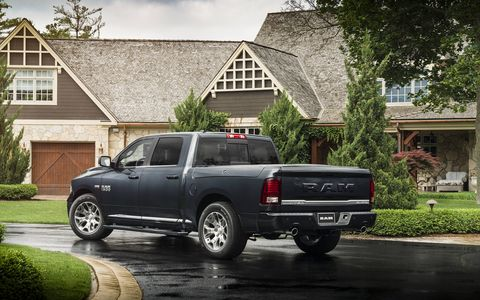 The 2018 Ram 1500 Limited Tungsten Crew 4X4 has a 5.7-liter Hemi V8 producing 395 hp and 410 lb-ft of torque.