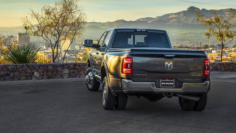 The 2019 Ram 3500 HD has single- and dual-rear wheel options.