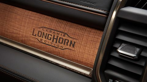 The 2019 Ram 2500 HD Longhorn comes with special trim including branded wood.