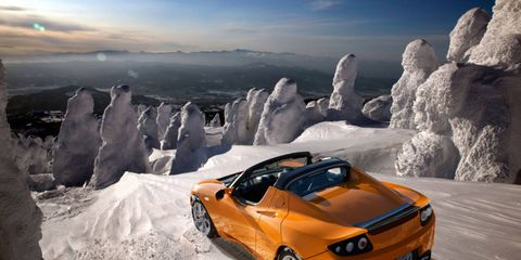 The 3.0 package will let you spend more time climbing icy mountains in your Tesla Roadster before recharging, if that's your thing.