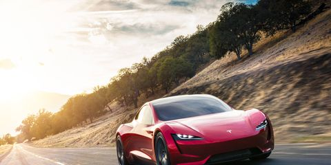 The Tesla Roadster has three electric motors: one in front and two in back. Promised performance is out of this world.