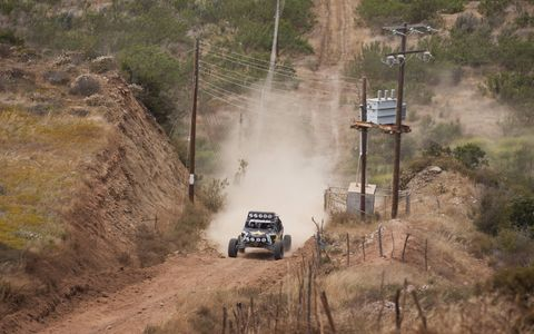 Pre Running the Baja 500 course in a 450 HP buggy