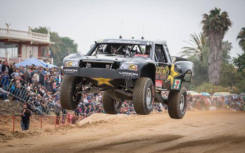 Rob Maccachren racing  the Baja 500  in his Trophy Truck