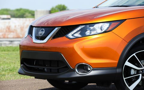 The Rogue's trim levels are also similar, for the most part, with the Rogue Sport being offered in three guises—S, SV and SL—with front- and all-wheel-drive variants for each trim.
