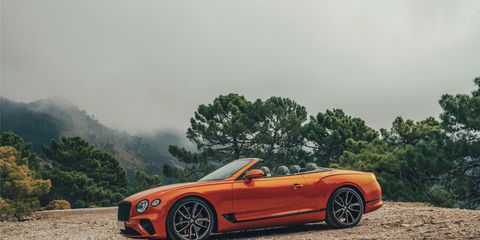 The new 2019 Bentley Continental GT Convertible looks fantastic top up or down