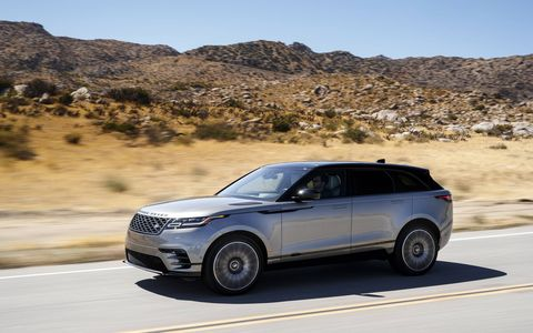 The 2018 Land Rover Range Rover Velar has a 2.0-liter I4 turbocharged diesel producing 180 hp and 317 lb-ft of torque.