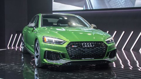 Audi unveiled the RS5 Sportback ahead of the start of the New York auto show, a four-door coupe that will go on sale stateside later this year.