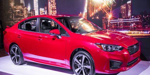 The 2017 Subaru Impreza made its debut in New York.