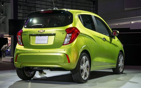 A completely redesigned 2016 Chevrolet Spark made its debut at the the New York auto show.