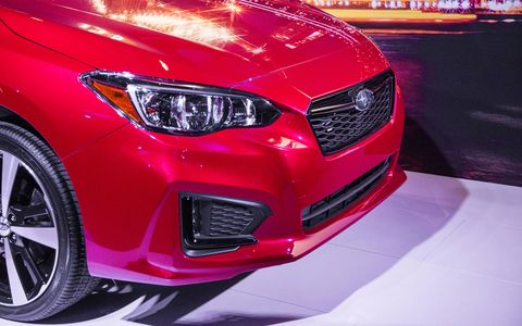 The 2017 Subaru Impreza made its debut in New York.