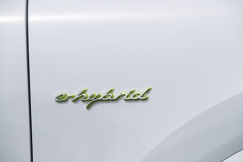 Like 'em or not, Acid Green details adorn the 2019 Porsche Cayenne E-Hybrid