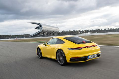 The Carrera S has a top speed of 191 mph.